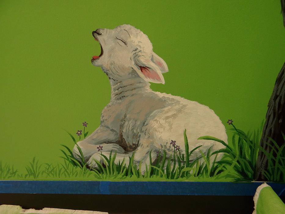 The Lord Is My Shepherd Mural Living Springs Christian