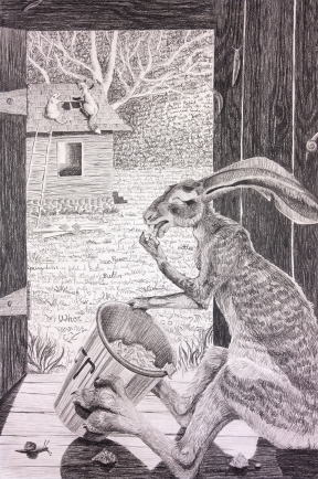 """Brer Rabbit Nibbles up all the Butter"" (SOLD)"