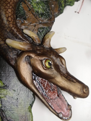 detail of dragon face