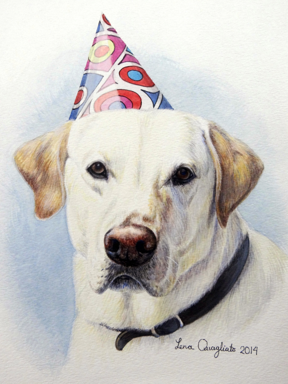 My gallery is growing will your pet be part of it fine for Painting of your dog