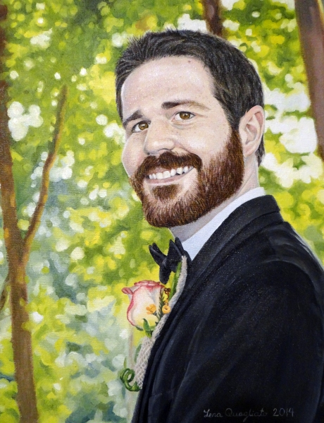 Oil painting of my Groom, Joel