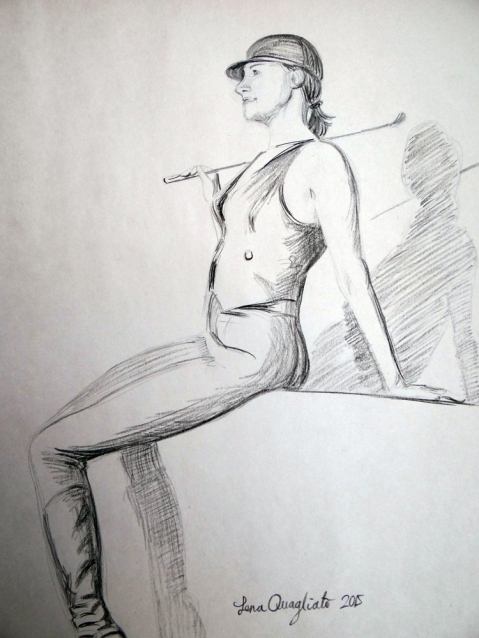 The horse rider 2. live pose