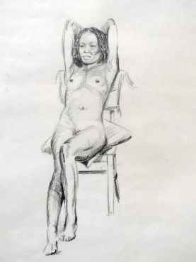 Reclining nude 2. Pencil