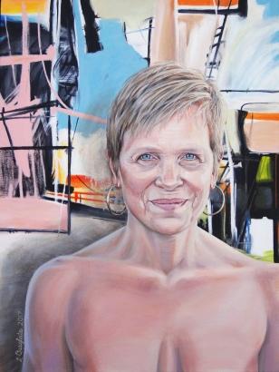 """""""Jennifer"""" 18x36"""" Acrylic on canvas"""